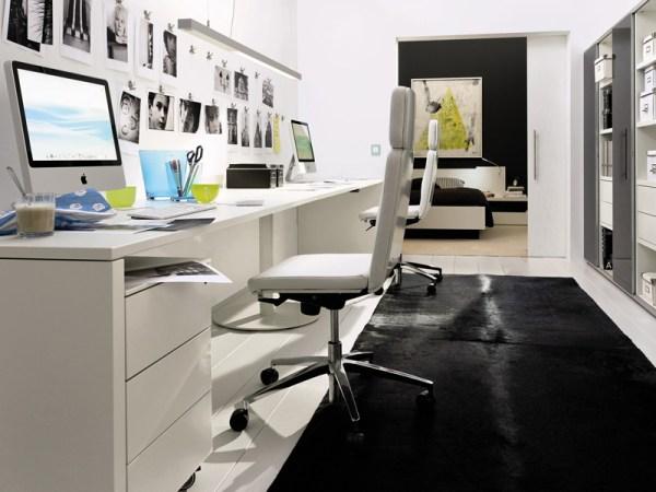 Bureau entrée maison: design spacieux bureau masculin à la maison
