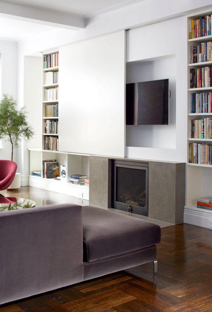 télévision cachée meuble
