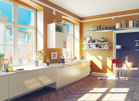 cuisine-appartement-parquet