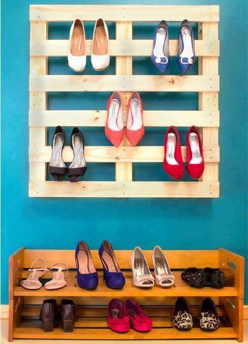 rangement chaussures palettes